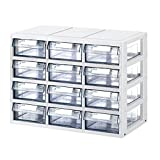 KAPAMAX Versatile muti purpose Case 12 Section organizer Storage Box Transparent drawers for keeping Stationery,office goods,Props,Tool-kit,Living suppliers Odds and ends parts Storage