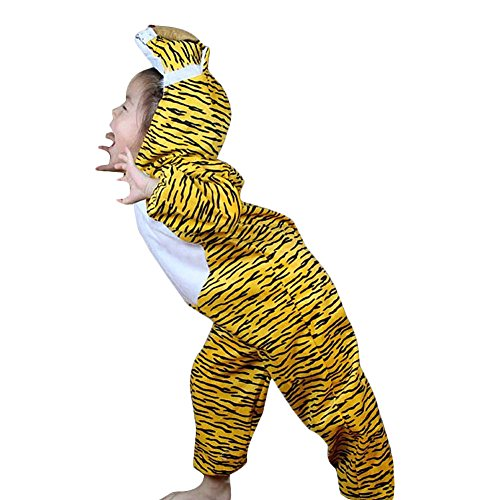 Tiger Ninja Costume - Moolecole Halloween Christmas Kids Costume Toddler Baby Animal Costume Tiger M