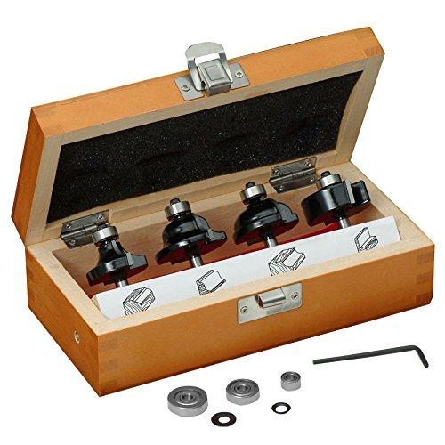 - Craftsman 4-pc Decorative Edge Router Bit Sets in Wooden Box, 9-32124