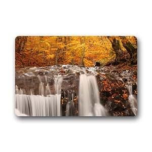 "CozyBath Waterfall Non-woven Fabric 23.6""(L) x 15.7""(W)Machine-washable Indoor/Outdoor/Shower/Bathroom Doormat"