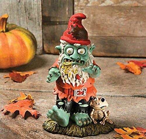 Halloween Male Zombie Gnome Figurine Garden Statue