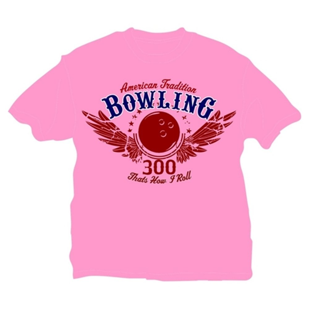 That's How I Roll Bowling T-Shirt- Pink (Large, Pink) by Bowlerstore Products