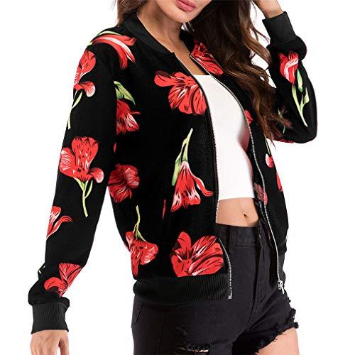 Femmes Les Manteau Bomber 13 Court Outwear Moto Impression Pour Parka Slim De Jacke Blouson Élégant 2xl S Hibote Casual Courte Veste Oxnw4YSAq0