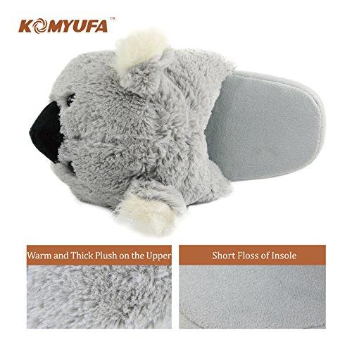 Home Foam Cozy Memory Outdoor Slippers Komyufa House Animal Indoor Women Grey Koala Slipper v5E0wq5xX