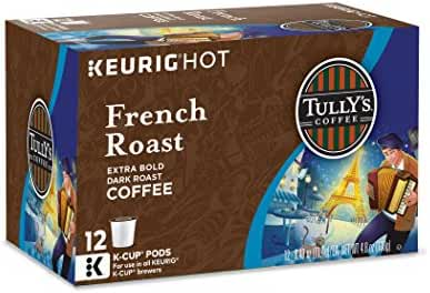 Tully's Coffee Keurig Single-Serve K-Cup Pods, French Dark Roast Coffee, 72 Count