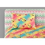 Emoji Pals Bed in a Bag Bedding Set Trendy, Soft, Adorable Emoji Pals Bed-In-A-Bag Bedding Set, Multicolor, TWIN/XL