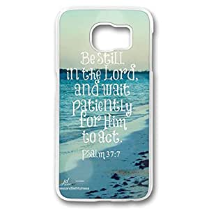 iCustomonline Be Still in the Lord Personalized Custom Hard Back PC Transparent Case for Samsung galaxy S6