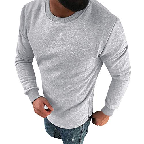 DaySeventh Personality Men's Winter Casual Slim Long Sleeve Sweatshirt Pullover Top Blouse -