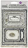 Prima Marketing 814687 Mini Frames Iron Orchid Designs Cling Stamps, 5'' by 7'', Clear