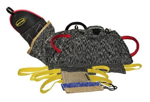 Dean & Tyler 8-Piece Professional Training Bundle Set for Dogs with 1 Intermediate Sleeve/1 Young Dog Bite Builder/1 X-Builder Cuff/5 Mixed Tugs