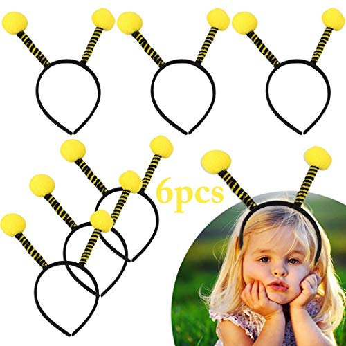 B bangcool Party Bee Tentacle Hair Hoops Animal Bee Hair Bands Headbands Bulk for Kids Girls Women Halloween Party Carnival Costume Supplies(6pcs) -
