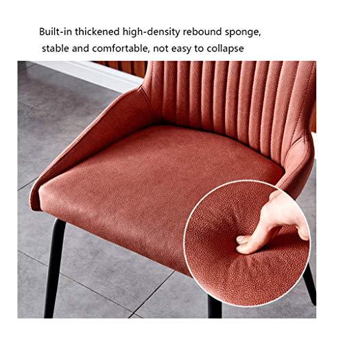 Xiaoli 2/4 st vattentät matstol set mjuk teknik tyg stol halkskydd fötter stol för hotell restaurang heminredning (färg: 2 st. svart)
