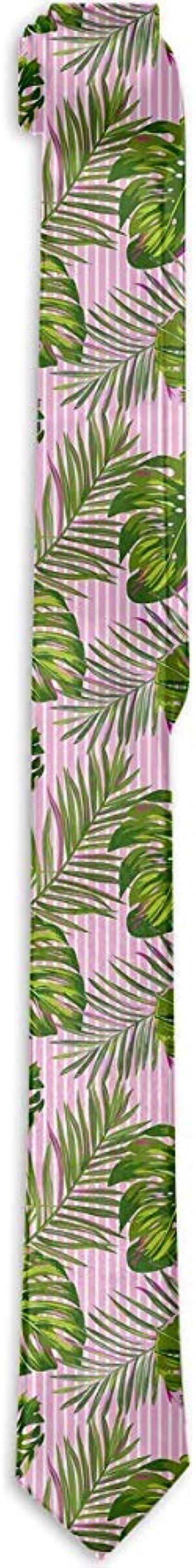 Lazo de los hombres Patrón de hojas de palmera tropical Rosa raya ...