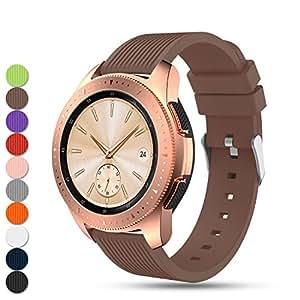 Feskio Accesorio Ajustable Silicona Suave Reemplazo Correa Reloj Pulsera para Samsung Galaxy Watch (42mm)