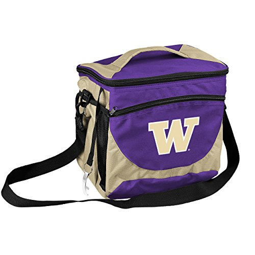 Washington Huskies Tailgate Cooler (Logo Brands Collegiate 24-Can Cooler with Bottle Opener and Front Dry Storage Pocket Washington 24 Can Cooler)