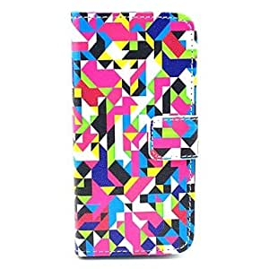 ZXC Irregular Geometry Figure PU Leather Full Body Case for iPhone 5/5S