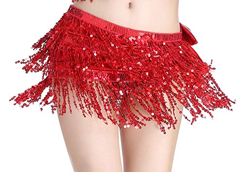 Girls Belly Dance Hip Scarf Sequin Gypsy Wrap