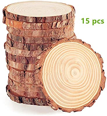 Natural Wood Ornament Slices with Holes