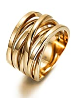 Engagement Rings for 316 Stainless Steel Gold Plated X Band Gold Wedding Ring for Women