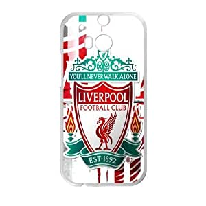 HTC One M8 Phone Cases White Liverpool Logo LSFE5460218