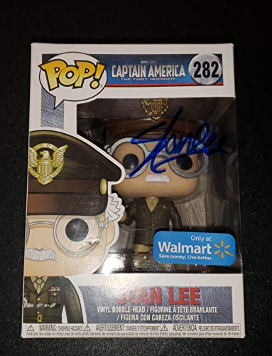 STAN LEE - Autographed Signed Stan Lee FUNKO POP 282 Vinyl Figure CAPTAIN AMERICA THE FIRST AVENGER COA