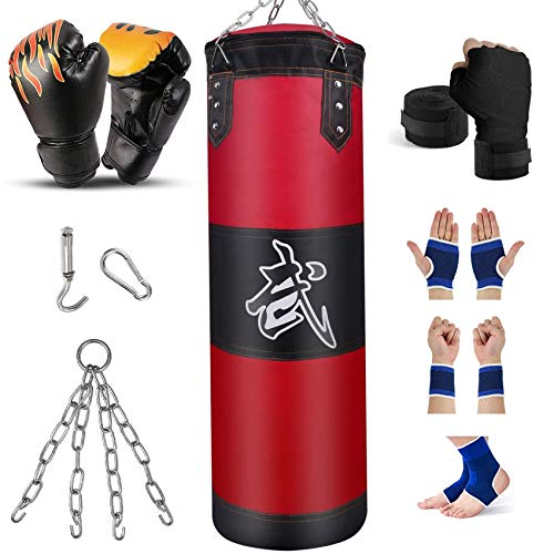 Prorobust Heavy Punching Bag for Man Women and Kids, Indoor/Garden Boxing Bag Unfilled Boxing Bag Set with Punching…