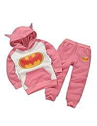 Lemonkids® Kids Children Fall Winter Fleece Hoodies Sweatshirt Pants Suit