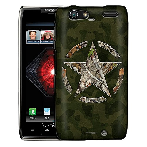 - Motorola Droid Razr Maxx Case, Slim Fit Snap On Cover by Trek Green Camouflage with Hunter Star Trans Case