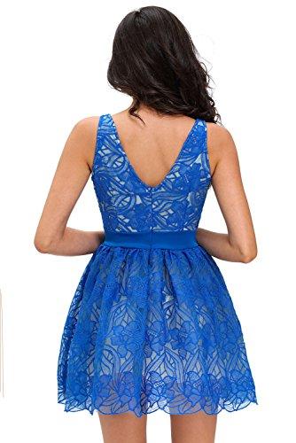 Pinkyee - Vestido - para mujer Azul