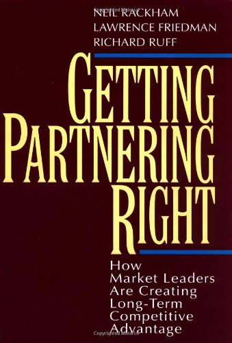 From the best-selling author of SPIN Selling, Getting Partnering Right explains, demystifies and makes sense of the revolution that is taking place in supplier-customer relationships today, redefining how to form locked-in, highly profitable relat...
