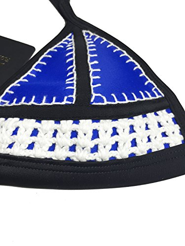 floravogue Farrah Pastel Crochet trajes de baño bikini neopreno Set Blue Top+Mint Bottom