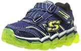 Skechers Kids Boys Skech Air TD Athletic Sneaker (Toddler), Navy/Lime, 9 M US Toddler