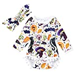 Janly Clothes Set Clearance, Girls Cartoon Romper Tassel Jumpsuit + Headbands for 0-2 Years Old Baby Halloween Costume Outfits (6-12 Months Baby Outfits, Purple)