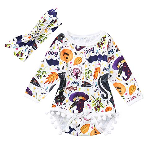 AMSKY Baby Boys Clothes 24 Months,Infant Toddler Baby Boys Girls Cartoon Romper Jumpsuit Halloween Costume Outfits,Baby Girls' Sleepwear & Robes,Purple,70