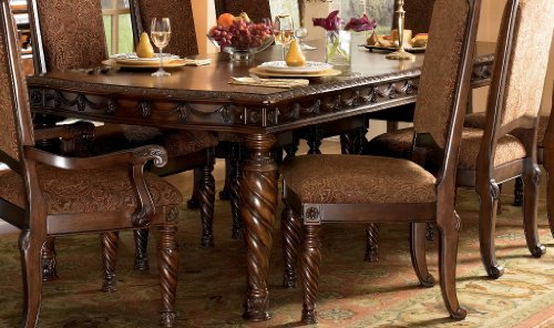 Dark Brown Rectangular Dining Table by Ashley Furniture
