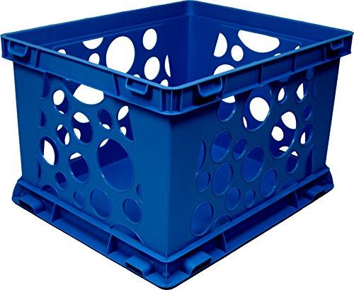 UPC 685442615557, Storex Large Storage and Transport File Crate, 17.25 x 14.25 x 10.5 Inches, Blue (STX61555U01C)