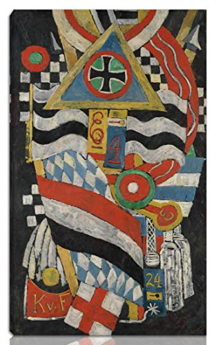 Berkin Arts Marsden Hartley Stretched Giclee Print On Canvas-Famous Paintings Fine Art Poster Reproduction Wall Decor-Ready to Hang(Portrait of A German Officer)#NK