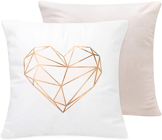 Live Love Purr Square Home Decor Accent Cover Gold Cat Lover Pillow Case