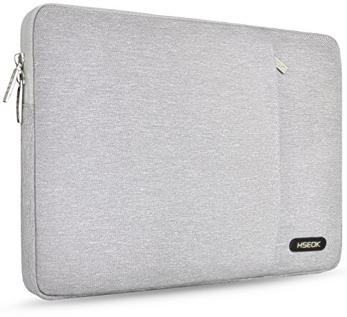 HSEOK 15-15.6 Inch Laptop Sleeve for Dell/Ausu/Acer/HP/Toshiba/Lenovo Spill-Resistant Ultrabook Netbook Tablet Bag Case Cover, Gray