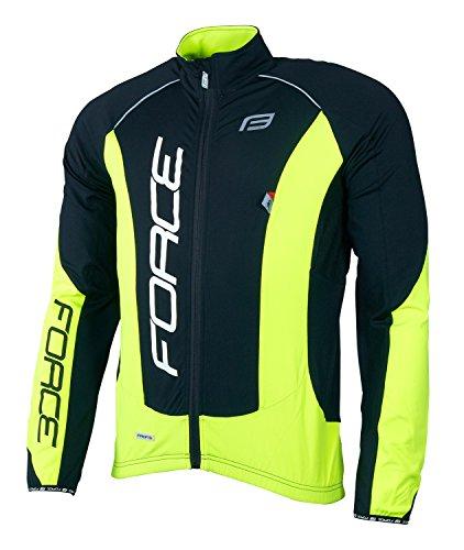 Force Herren Fahrradjacke X68 PRO, Winterjacke, verschiedene Farben (schwarz/neongelb, XL)