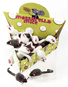 MOZZARELLA Plush Mice - 48 pc. Cheese Wedge Pack