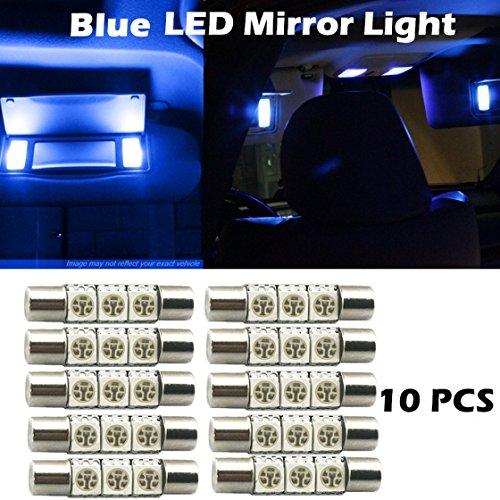 Partsam (10) 6614F 3 SMD Fuse LED Visor Vanity Mirror Lights Bright Blue 2012 Infiniti M35h