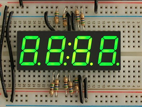 Adafruit Green 7-segment clock display - 0.56