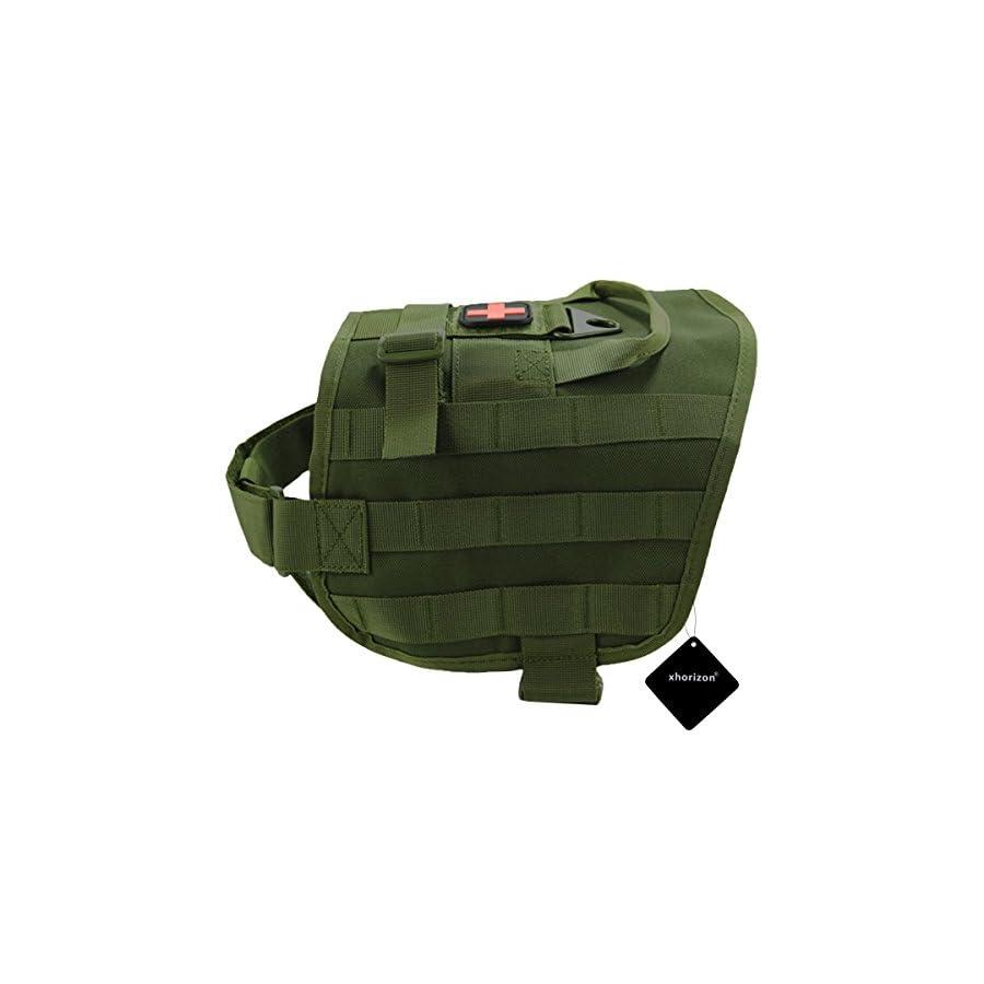 xhorizon SR Tactical Dog Vest, Military Tactical Dog Vest Training Molle Harnes