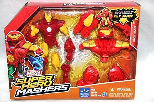 Marvel Super Hero Mashers Iron man mash-up w/ HULK BUSTER BIG PACK (Marvel Super Hero Mashers Electronic Iron Man Figure)