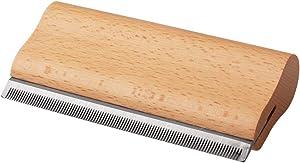 Tylu 5 Inch Deshedding Grooming Tool Ergonomic Design Wood Groom Brush, Professional Pet Groomer Painlessly Remove for Short & Long Hair Fur & Dirt for Dogs, Cats & Horses