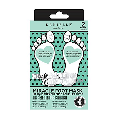 Danielle Miracle Nourishing Foot Mask, 2-Pack, 2 Piece