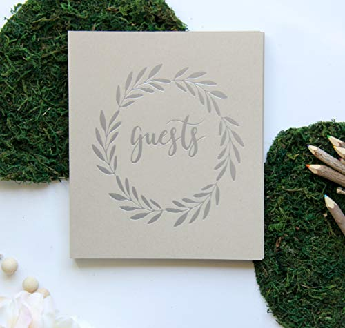- Guest Book for Photos, Silver Foil Embossing for Prom Decorations. 130 Pages, 8.5