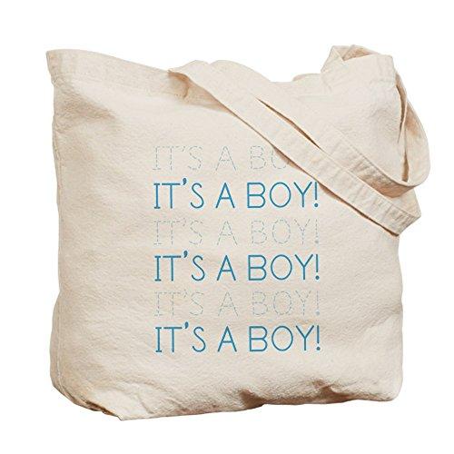 CafePress color azul es un niño–Gamuza de bolsa de lona bolsa, bolsa de la compra