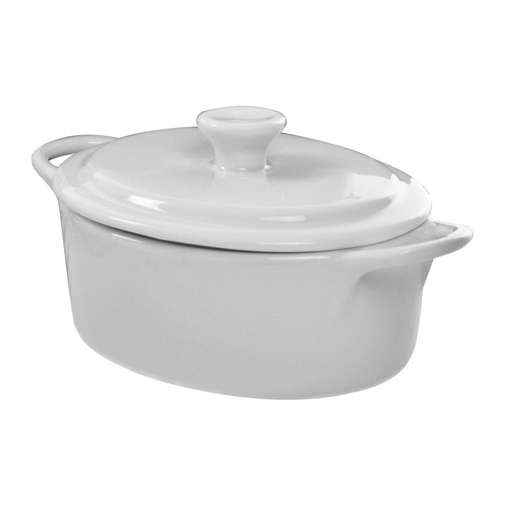 10 Strawberry Street Whittier 4 Oz Oval Tureen with Lid, Set of 4, White